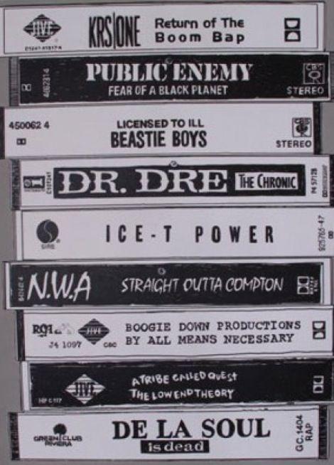 + Run DMC + LL Cool J + GrandMaster Flash & Furious 5 + Fugees + WuTang + Dj Quik + EPMD + Eric B. & Rakim = REAL hip hop (PG)