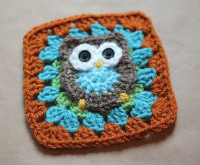 Owl Granny Square Pattern