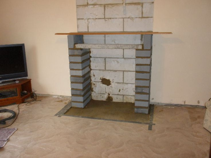 2 hearth laid blockwork pillars lintel ideas for the Fireplace ideas no fire