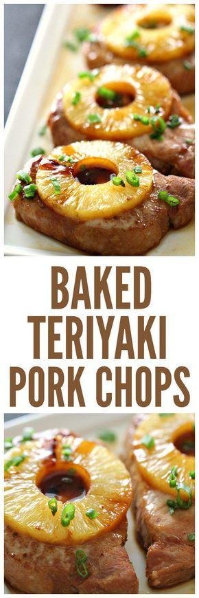 Baked Teriyaki Pork Chops on SixSistersStuff.com | Healthy Summer Dinner Recipes | Easy Meal Ideas | Kid Approved