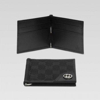 Gucci 181678 Fafxn 1000 Money Clip Geldb?rse Mit Verriegelung G Ornament Gucci Herren Portemonnaie