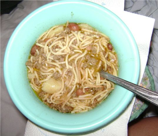 Fideo Loco Soup! Hope this tastes like the kind I've had before. Terrible picture but awesome soup!