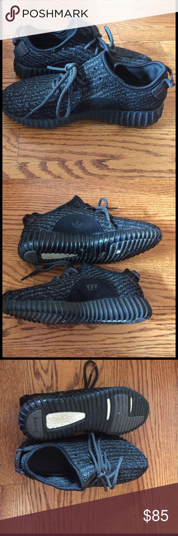 Fake yeezy boost in pirate black women's/men's 7 FAKE** yeezy boost pirate black Yeezy Shoes Sneakers