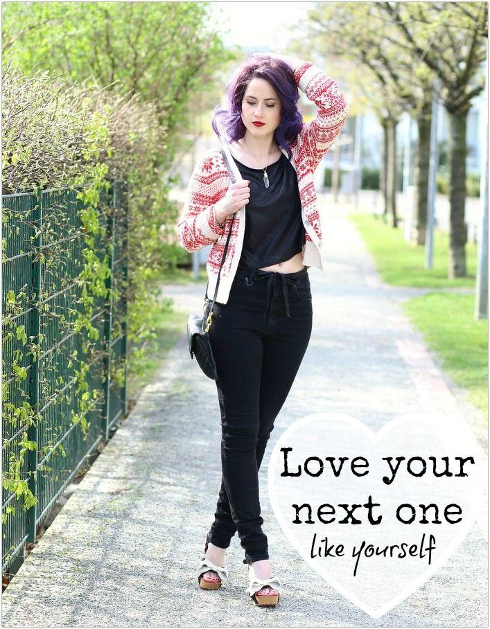 Everyday Look, Schleifen-Sandalen, lola ramona, high waist, purple hair, lila haare, mode blog, fashion blog