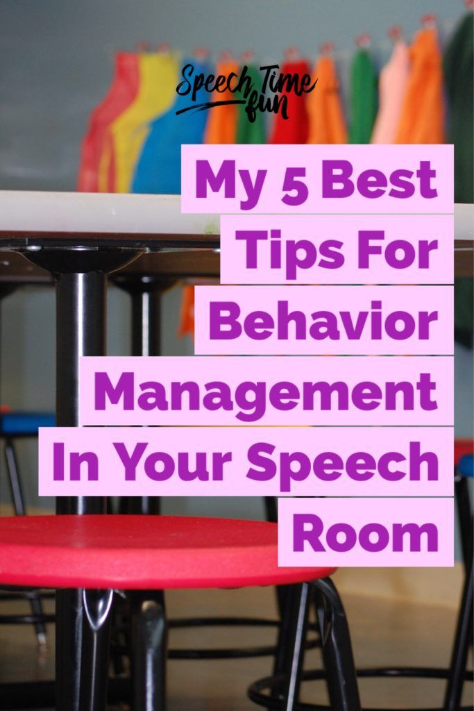 My 5 Best Tips For Behavior Management In Your Speech Room: Learn your students, build rapport, and have a system that works!