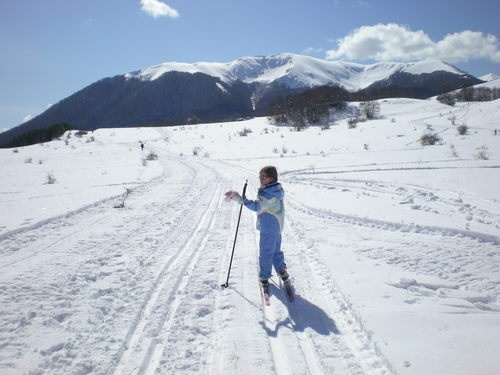 Cross country skiing in the Devil's Pass in #Abruzzo, #Italy...never been, but this is where half of my heritage is from...one day
