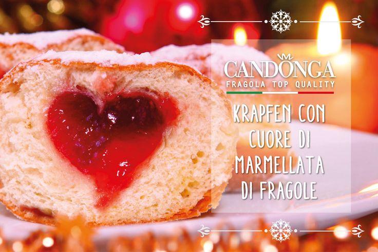 Il Natale dal cuore tenero piace a tutti! #Candonga #fragole #ricette #topquality #cibosano #mangiosano #natale2015 #xmas