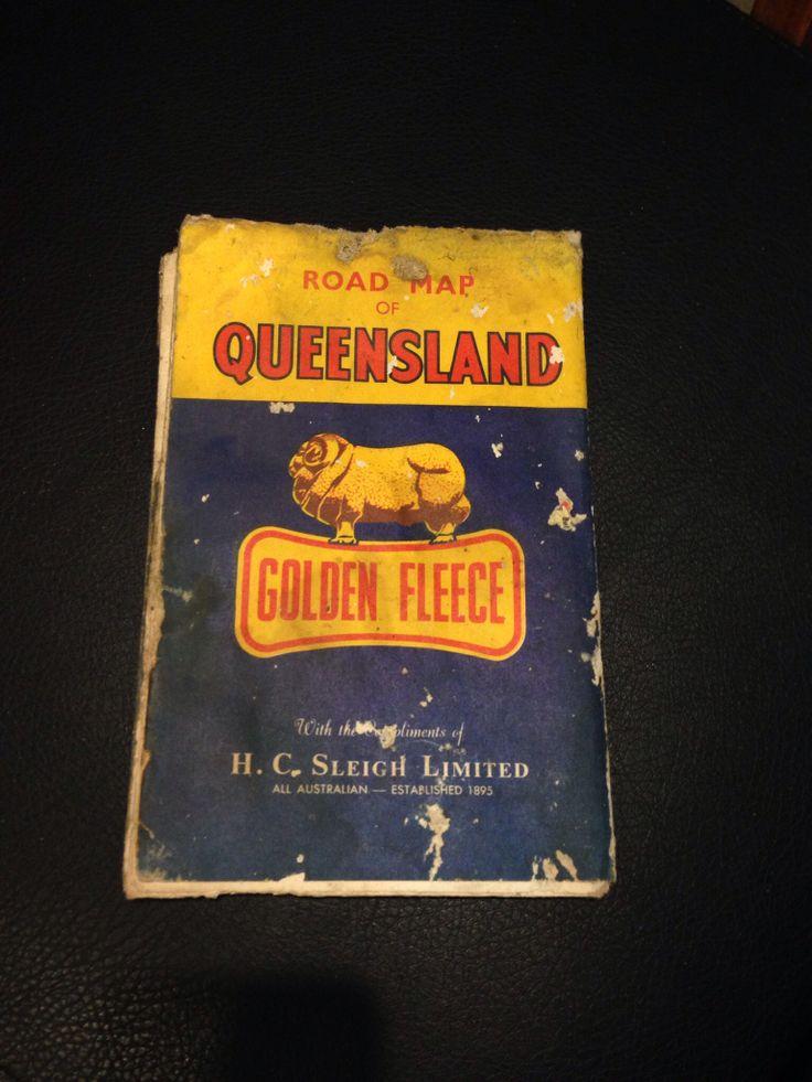 Golden Fleece Road Map of Queensland.  Currumbin BP Petrol Station, Throwers Drive, Currumbin, QLD