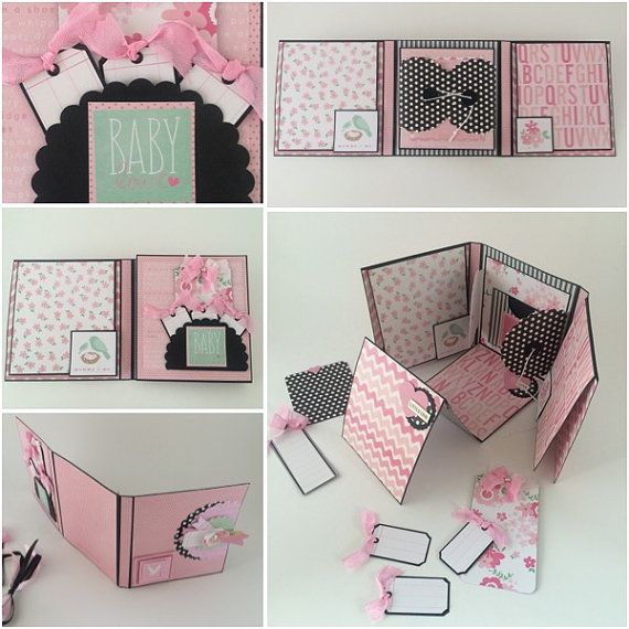 Baby Girl Photo Album Pink and Black Babies by CallMeCraftie