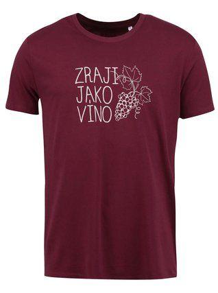 ZOOT Originál - Vínové pánské triko  Zraji jako víno - 1