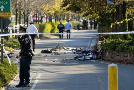 President Donald Trump has twice taken to Twitter to respond to this afternoon's attack in lower Manhattan in which the driver of a rental truck careened down a bicycle path, mowing down joggers and …