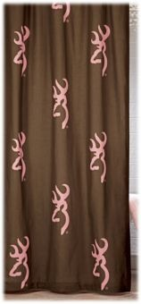 Browning® Buckmark Pink and Brown Shower Curtain | Bass Pro Shops