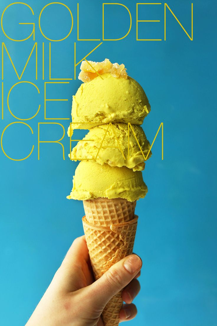 AMAZING GOLDEN MILK Turmeric Ice Cream    vegan  glutenfree  icecream  goldenmilk  turmeric  healthy  icecream  recipe