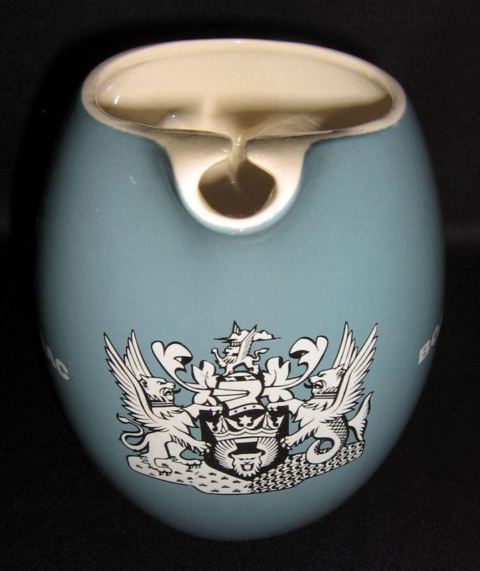 Vintage Wade BOAC Water Jug Beautiful Blue Glaze & Griffin/Dragon Like Motif