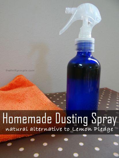 DIY Homemade Dusting Spray with Lemon Recipe (Alternative to Pledge)