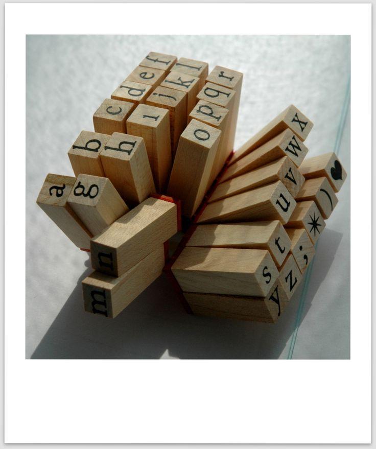 tampons alphabet (Artemio)