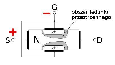 Tranzystory unipolarne (tranzystory polowe) to takie, w których prąd płynie przez półprzewodnik o jednym typie przewodnictwa. Prąd wyjściowy jest w nich funkcją napięcia sterującego. W obszarze półprzewodnika z dwiema elektrodami: źródłem (S) i drenem (D) tworzy się tzw. kanał, którym płynie prąd. Wzdłuż tego obszaru umieszczona jest trzecia elektroda, zwana bramką (G). Napięcie przyłożone do bramki zmienia przewodnictwo kanału, wpływając w ten sposób na płynący prąd.