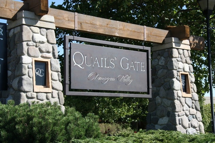 Quails' Gate Winery in the Okanagan Valley, BC.