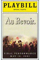 Playbill Cover for Les Misérables at Broadway Theatre  Les Miserables Playbill - Closing Night
