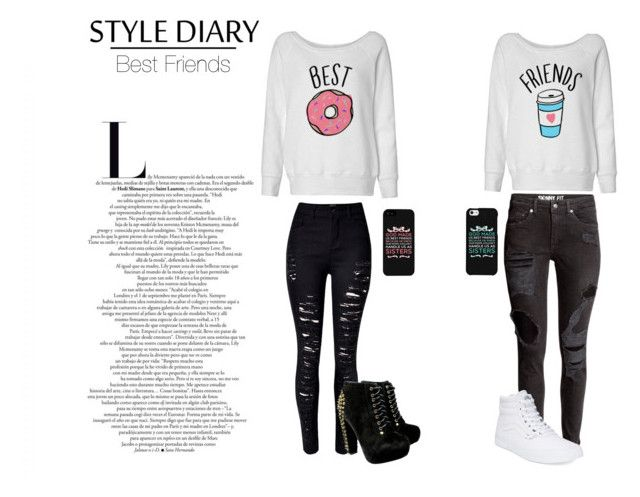 """""""Bestie"""" by isabelle071102 on Polyvore featuring Vans, women's clothing, women, female, woman, misses and juniors"""