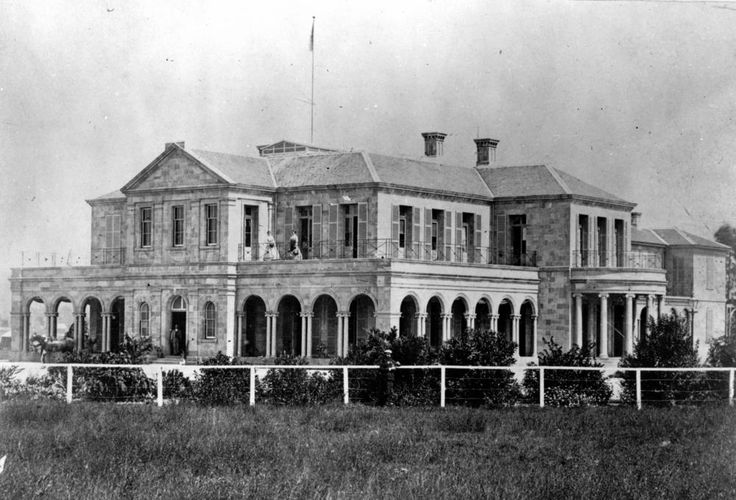 Government House at George Street, Brisbane, ca. 1869 - Image Number: 3801