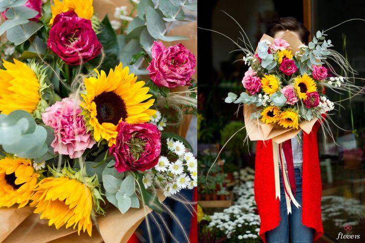 #bukiet #kwiaty #kwiatysapiekne #flowers # bouquets #sunflowers #roses