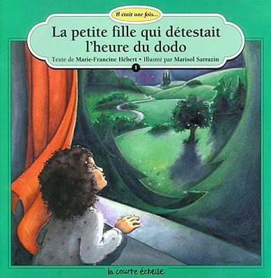 La petite fille qui détestait l'heure du dodo, Marie-Francine Hébert, illust. Marisol Sarrazin (album - épuisé) éditions Courte échelle- « Il était une fois une petite fille qui détestait l'heure du dodo. » C'est par ces mots que commence le récit. Mais les parents de la petite fille, au lieu d'accourir comme d'habitude à chacun de ses caprices, se mettent un soir au lit en même temps qu'elle, épuisés, en lui conseillant de compter les moutons!