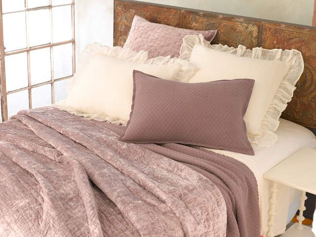 Dusty Plum Our Bedroom Pinterest Shops Quilt And Velvet