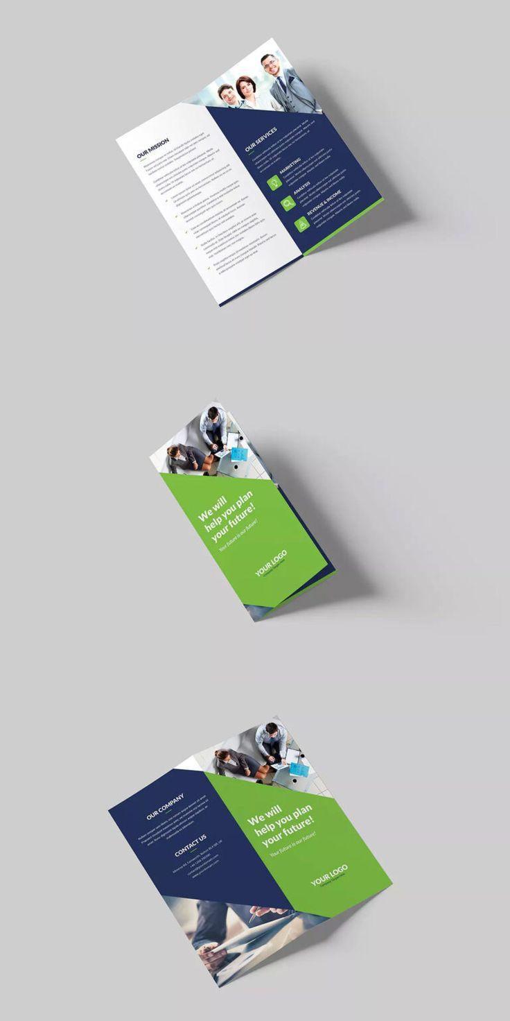 Pin On Bi+Tri+Quad Fold Brochures within Quad Fold