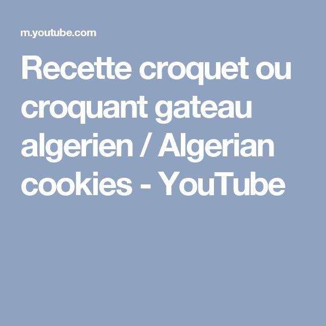 17 best ideas about recette croquet on pinterest recette for Algerian cuisine youtube