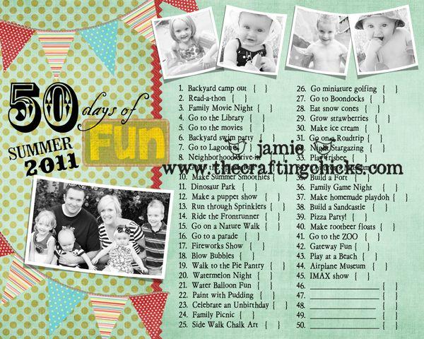 summer fun list: Photos Journals, Buckets Lists, Fun Charts, Summer Activities, Fun Ideas, Summerfun Hopecottag, Summer Fun Lists, Summer Ideas, Summer Fun Crafts
