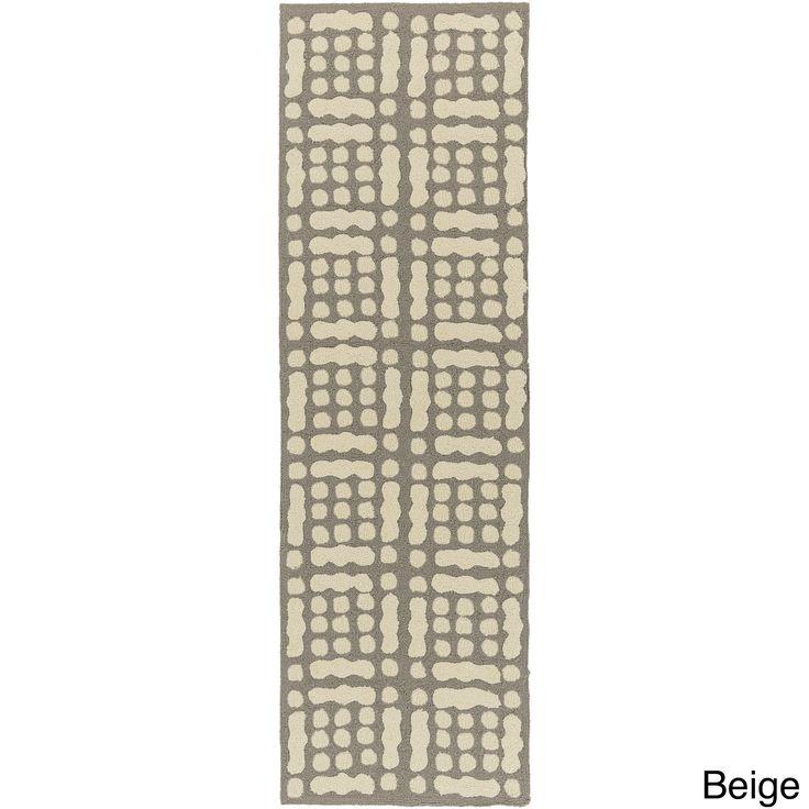 Hand-Hooked Masham Dots Polypropylene Rug (2'6 x 8') (