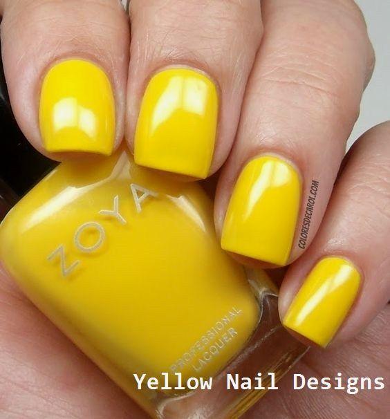 23 Great Yellow Nail Art Designs 2019  yellownails  nail