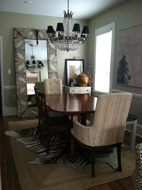 love an animal skin rug under the table - Animal Skin Rugs