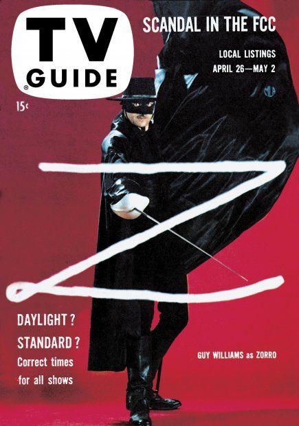 TV Guide, April 26, 1958 - Guy Williams as Zorro