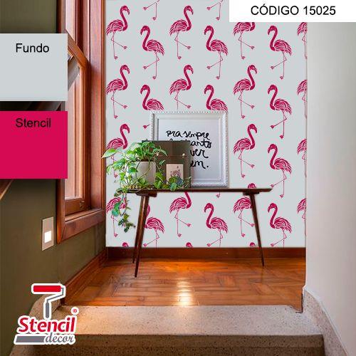 Flamingos – Stencil Decorativo (molde para pintura)