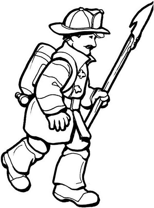 coloring pages firemen - photo#21