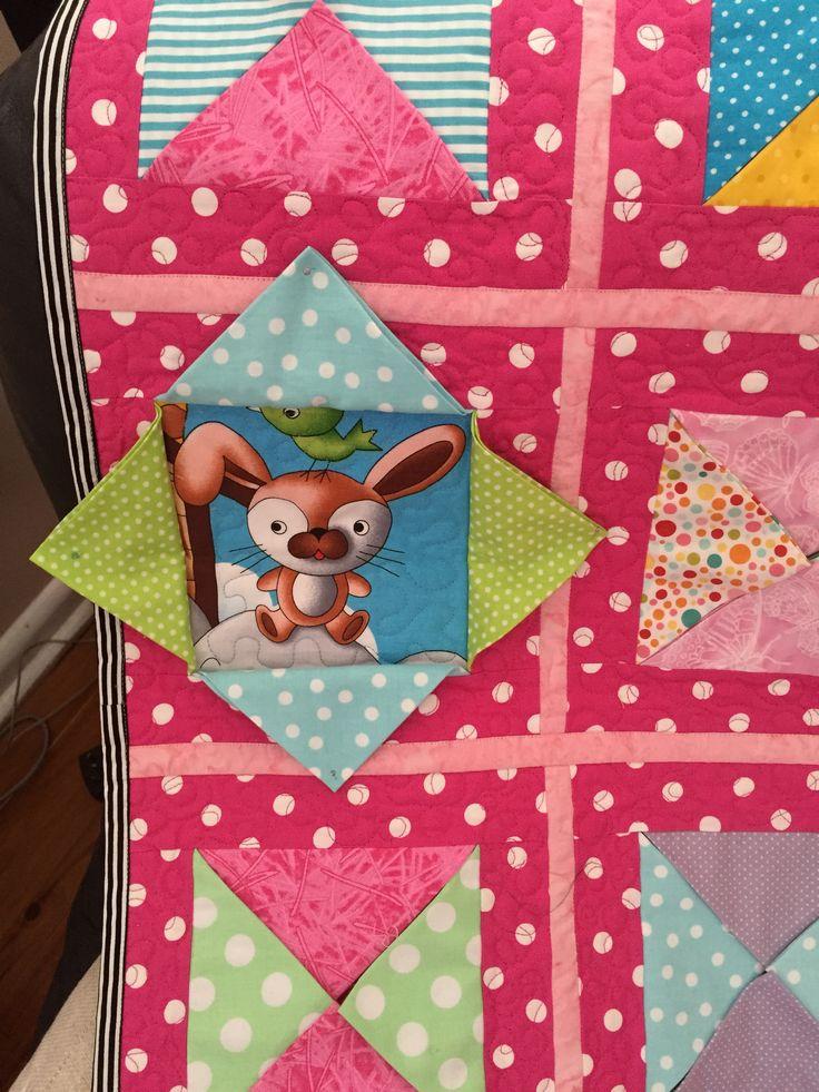 peek-a-boo quilt for Billie