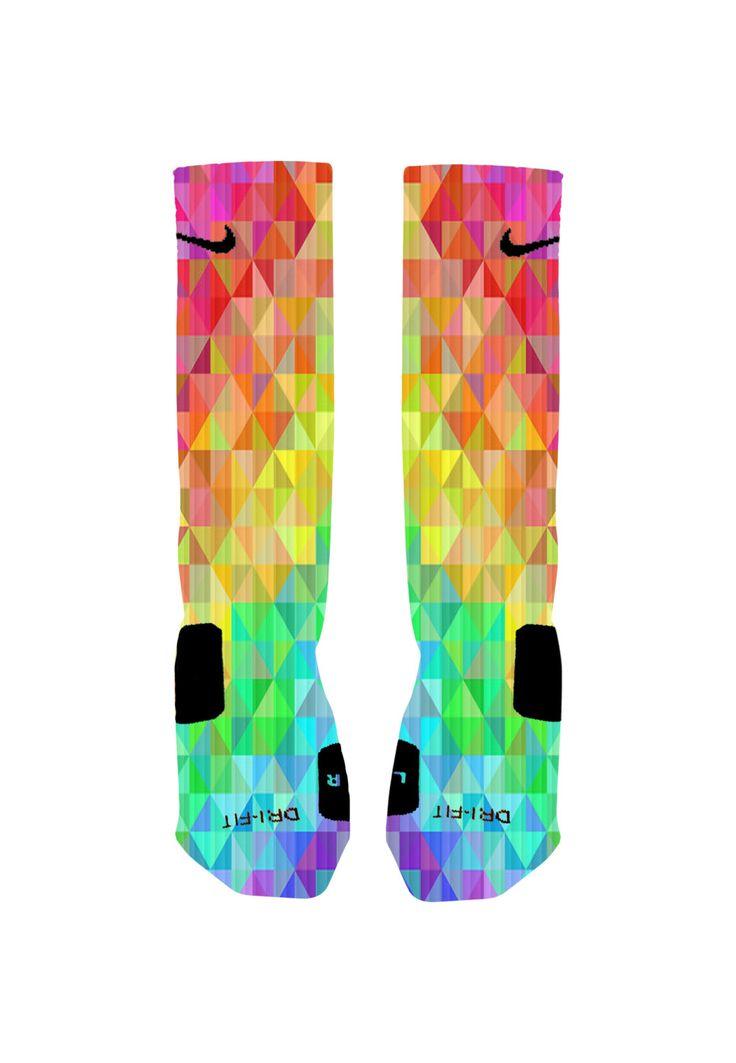 Colorful Prism Custom Nike Elite Socks