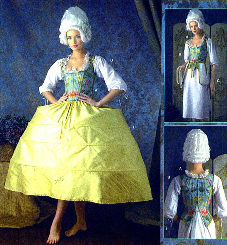 18th century stays and panniers christmas carol costume ideas pin