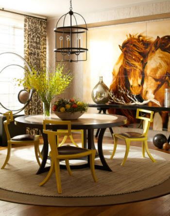 Brown Tone Horse Dining Room