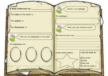 Great book reflection to guide students through writing a book review.  Especially helpful for ELL students.