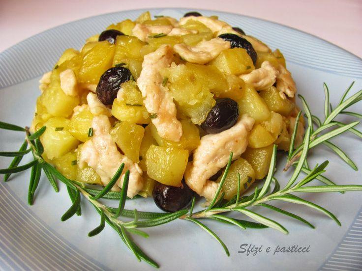 Sfizi e pasticci: Straccetti di pollo con patate e olive