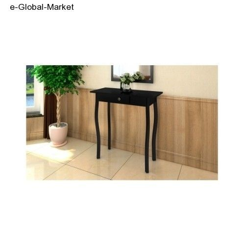 BLACK Side End Table Console Hallway Legs Drawer Desk Lamp Telephone Tables