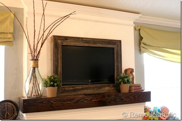 Mantle framed TV