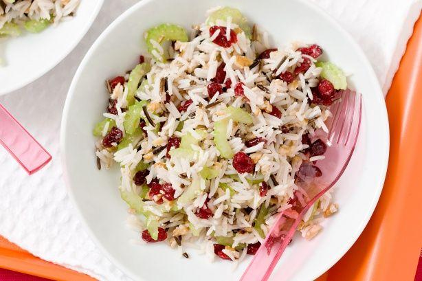 Wild rice, cranberry and walnut salad main image