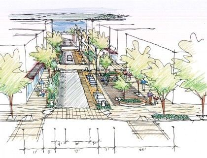 Pedestrian street on pier street things dromana should have pinterest street Urban planning and design for the american city