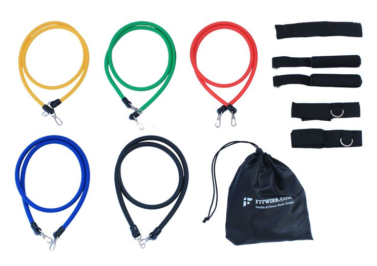 """Resistance Bands Exercise Bundle: Full-Body Workout Poster 24""""X36"""""""