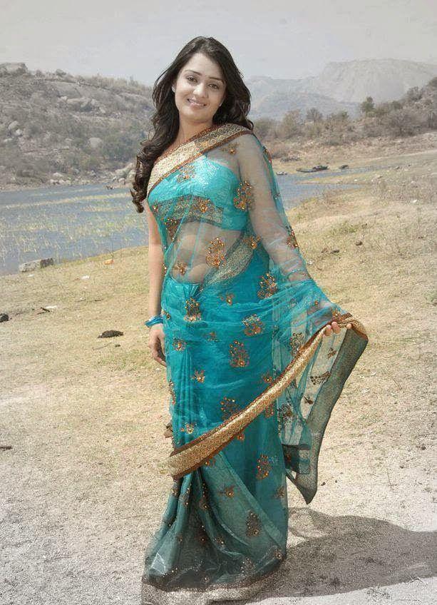 Indian Sari Actress Navel Press