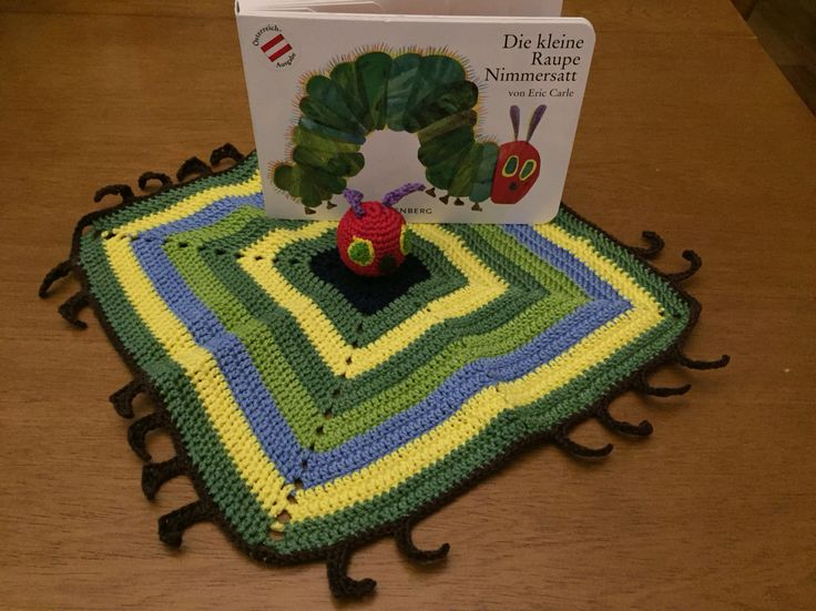 "Crochet Blankie ""The Very Hungry Caterpillar"""
